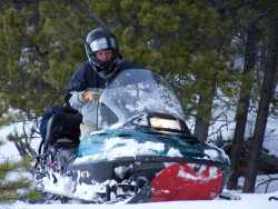 Hein on his snowmobile