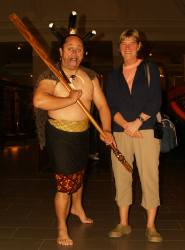 Wil and Maori warrior
